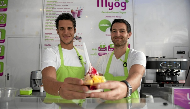 Making frozen yoghurt cool: Joris Hadjadj and Jean-Eric Leblanc, owners of Myög. Photo: David Harrison.