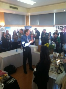 Prof Tim Noakes speaking at the event